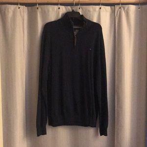 Men's Tommy Hilfiger quarter zip pullover Navy XXL
